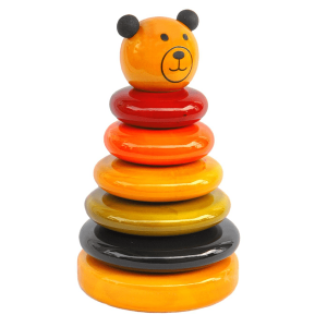 Wooden Ring Stack- Small