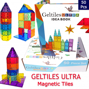 GeLTiles ULTRA Magnetic Tiles – 50 pcs Set