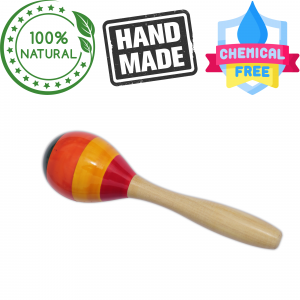 Rattle Egg Shaker Wooden Non-Toxic Very Natural